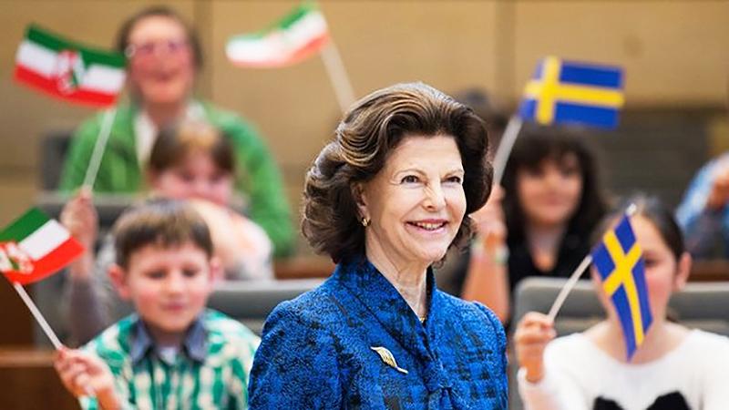 Новости: Королева Сильвия посетила Дюссельдорф