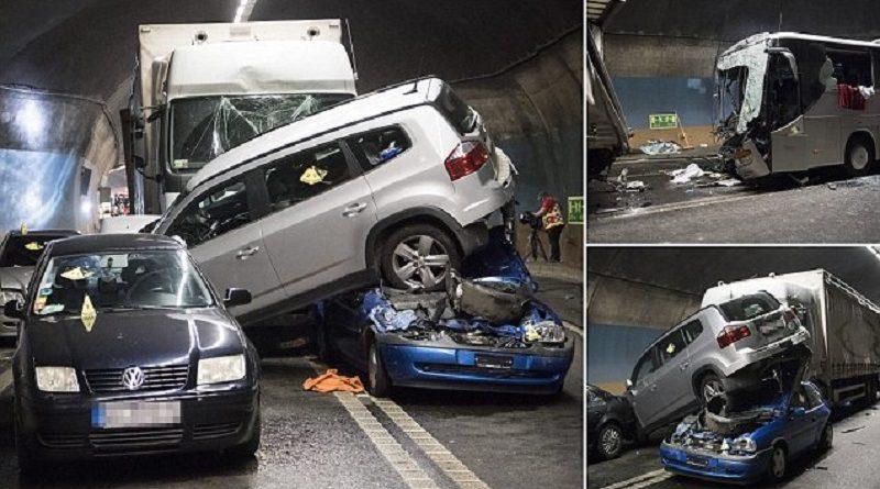авария в швейцарском туннеле