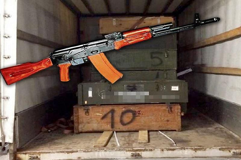 грузовик с оружием