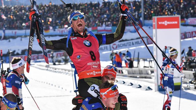 Спорт: Триумф немецких биатлонистов