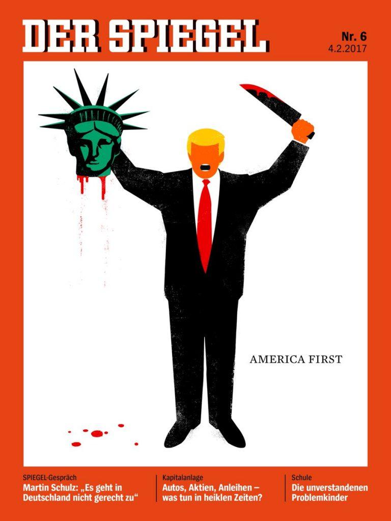 Общество: Журнал Spiegel изобразил Трампа с отрезанной головой Статуи Свободы