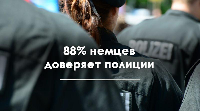 88% немцев доверяет полиции