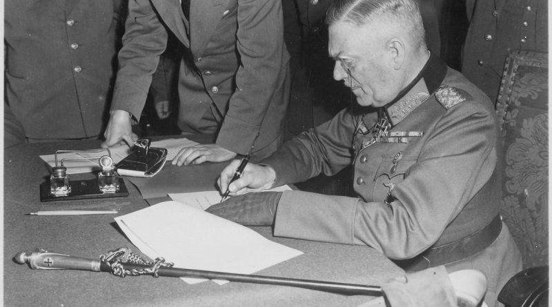 https://germania.one/wp-content/uploads/2017/05/lossy-page1-1163px-Field_Marshall_Wilhelm_Keitel_signing_the_ratified_surrender_terms_for_the_German_Army_at_Russian_Headquarters_in..._-_NARA_-_531290.tif_-e1494176302930-800x445.jpg