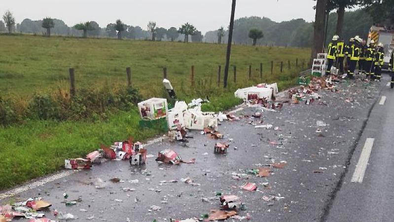 Происшествия: Авария в Зонсбеке : 20 километров пива на дороге