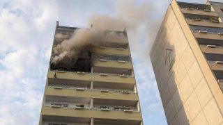 Мужчина выпрыгнул с 8-го этажа, спасаясь от пожара