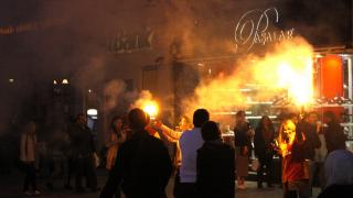 В Дюссельдорфе футбольные фанаты устроили массовую драку