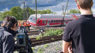 В Аугсбурге столкнулись два поезда