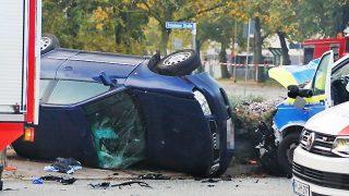 Столкновение с полицейской машиной: двое погибших