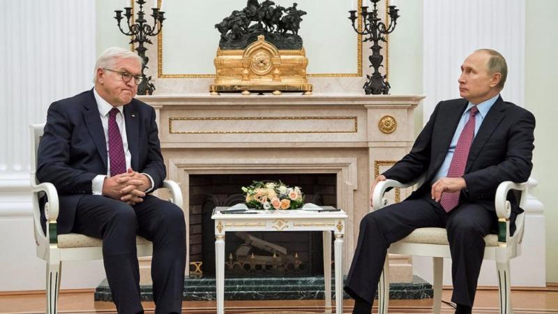 Политика: Штайнмайер встретился с Путиным и Горбачевым