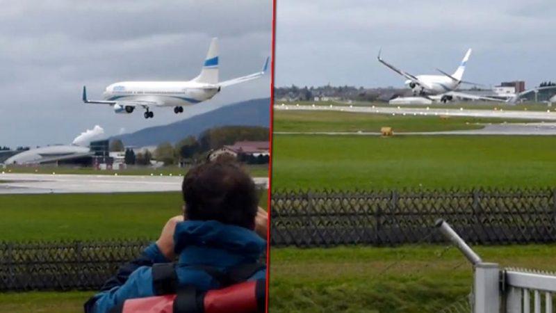 Происшествия: Во время посадки самолет едва не перевернулся из-за сильного ветра (+видео)