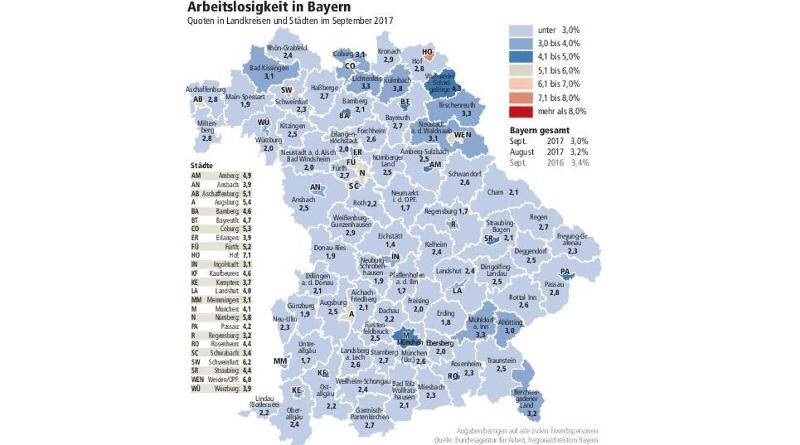Общество: Уровень безработицы в Баварии стремительно падает