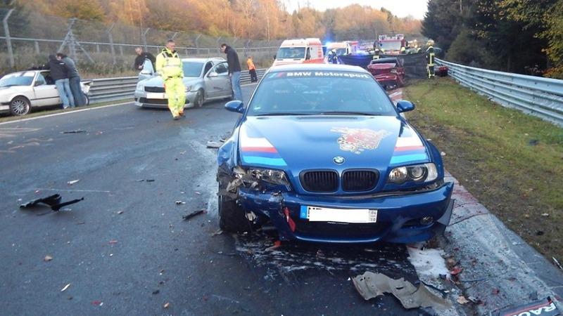 Происшествия: Массовая авария наНюрбургрингепри участии14 автомобилей