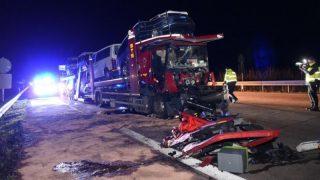 В Берлине столкнулись четыре грузовика: есть пострадавшие