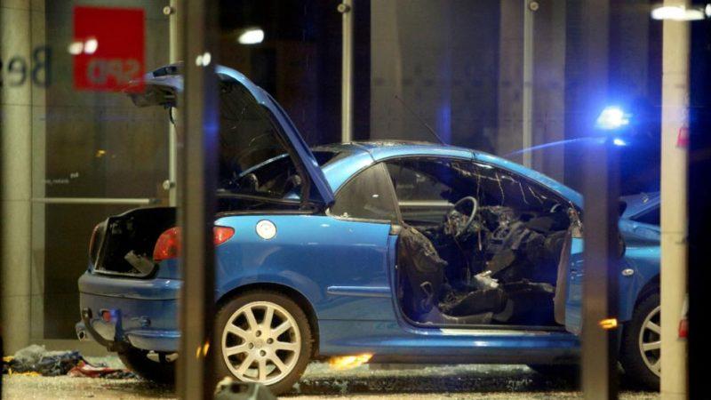 Происшествия: В Берлине автомобиль протаранил здание штаб-квартиры СДПГ