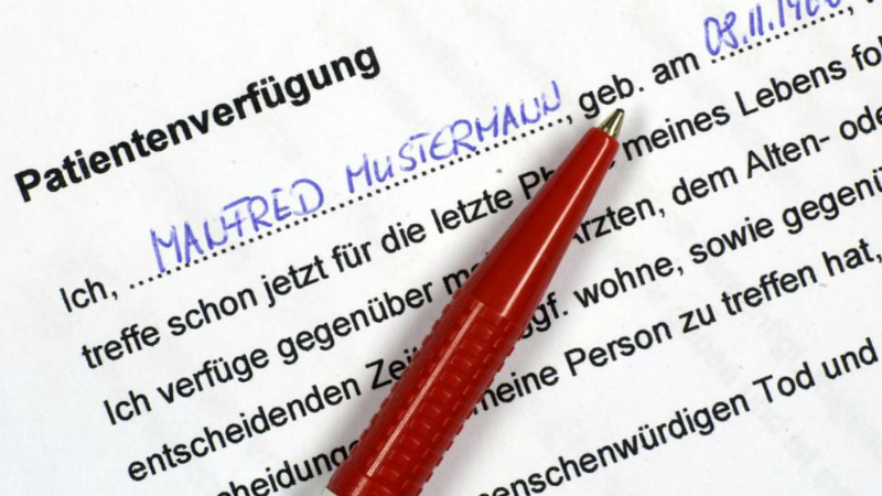 Закон и право: Важные вопросы об оформлении распоряжения пациента (Patientenverfügung)