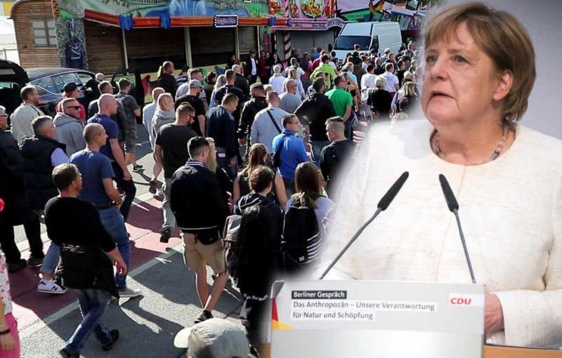 Происшествия: Меркель о беспорядках в Хемнице: «Подобным демонстрациям не место в конституционном государстве»