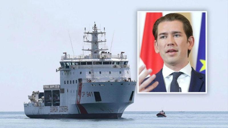 Политика: Курц хочет заблокировать европейские порты для беженцев
