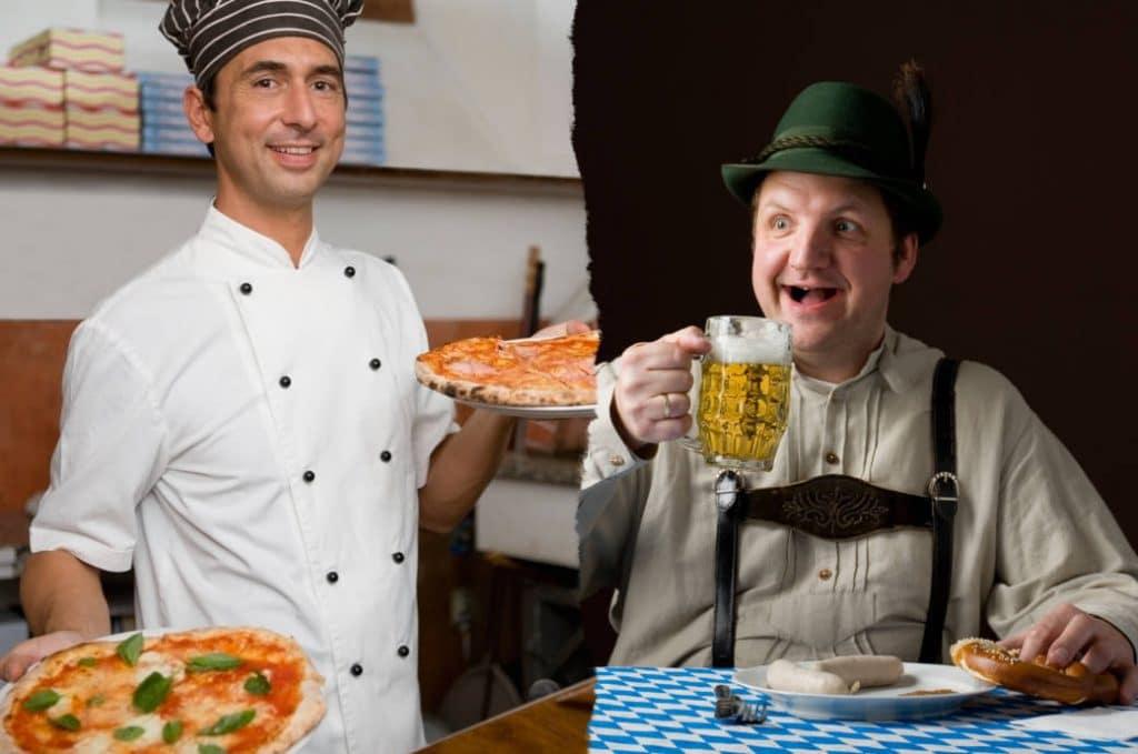 Общество: Спокойствие, ранний ужин и купание в апреле: что итальянцы находят странным в немцах?