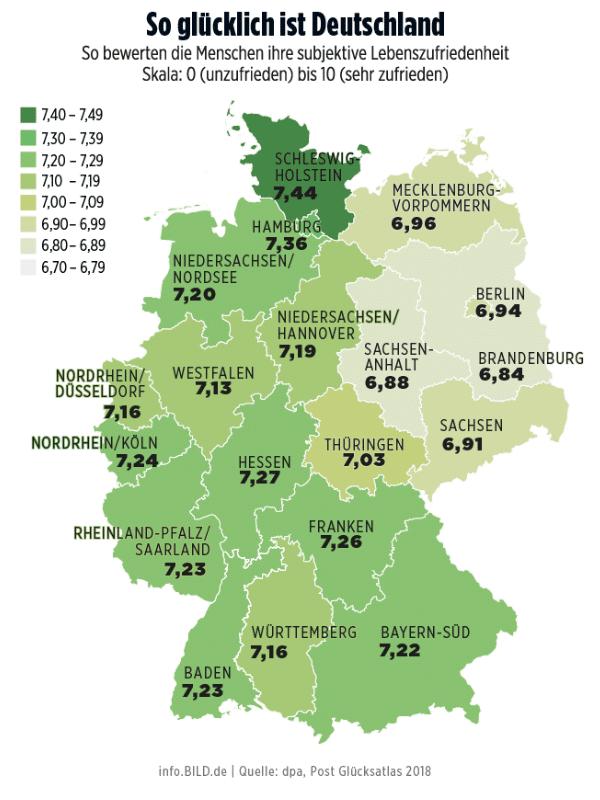 Общество: Жители Западной Германии счастливее жителей восточных регионов страны