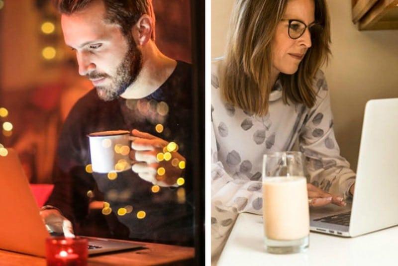 Полезные советы: Парень и женщина сидят за ноутбуком
