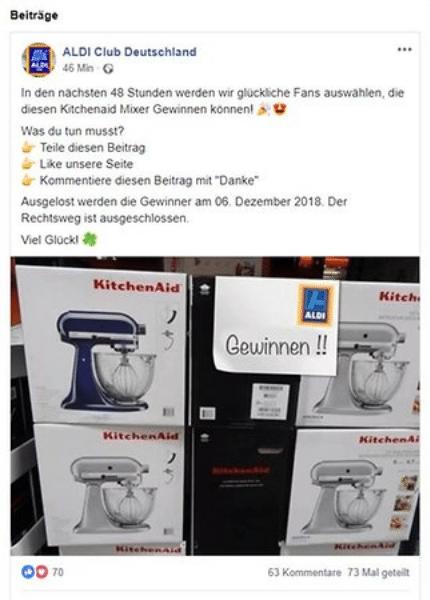Общество: Осторожно, новый вид мошенничества: в соцсетях предлагают подарки от Aldi