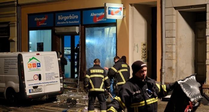 Происшествия: У штаб-квартиры АдГ в Саксонии произошел взрыв