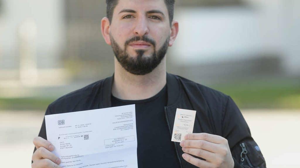 Общество: Жителя Мюнхена оштрафовали за безбилетный проезд, несмотря на то, что билет у мужчины был