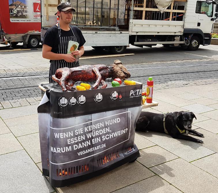 Общество: Собака на гриле шокировала жителей многих немецких городов: в чем суть? рис 2